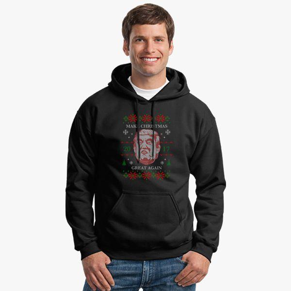 Donald Trump Ugly Christmas Sweater.Donald Trump Ugly Sweater Unisex Hoodie Kidozi Com
