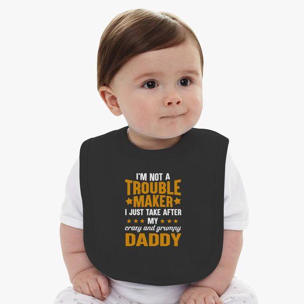 44331f67 Trouble daddy Baby Bib | Kidozi.com