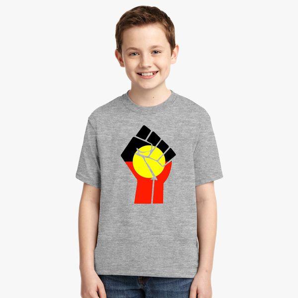 Raised Fist - Aboriginal Flag Youth T-shirt +more