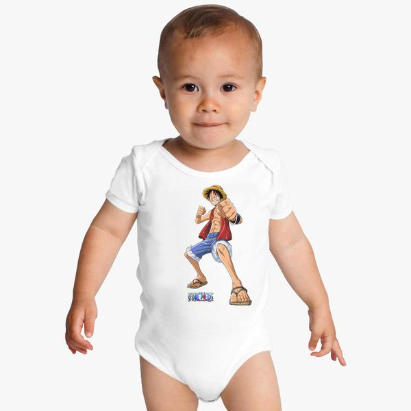 Luffy One Piece Baby Onesies  d5253a682a77