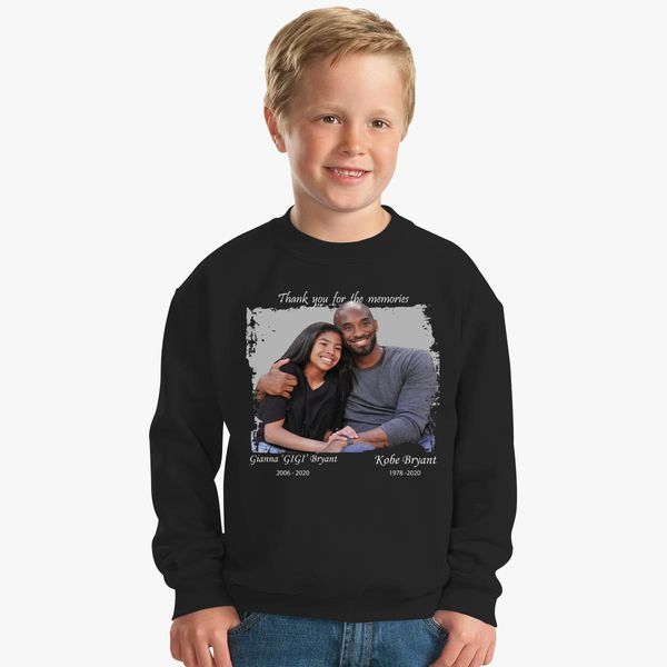Kobe Bryant and Gigi Bryant T-shirt Kids Sweatshirt | Kidozi.com