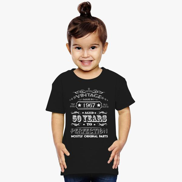 240a65b4 Vintage Age 50 Years 1967 Perfect 50th Birthday Toddler T-shirt   Kidozi.com