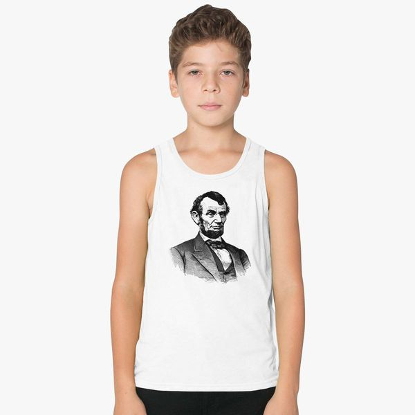 92cc964c2ce6a0 Abraham Lincoln Kids Tank Top