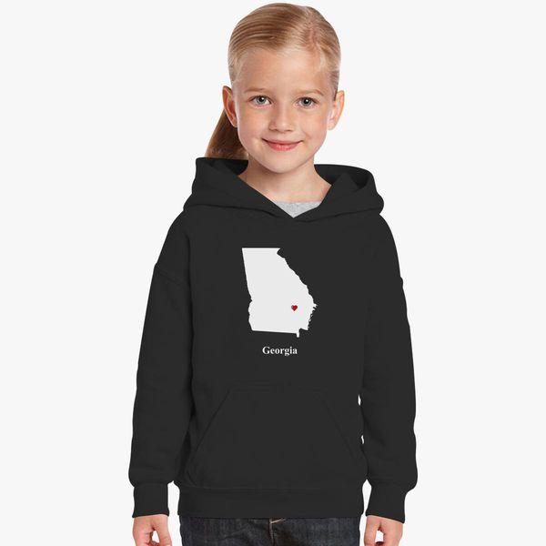 Map Of Georgia For Kids.Georgia Love Map Kids Hoodie Kidozi Com