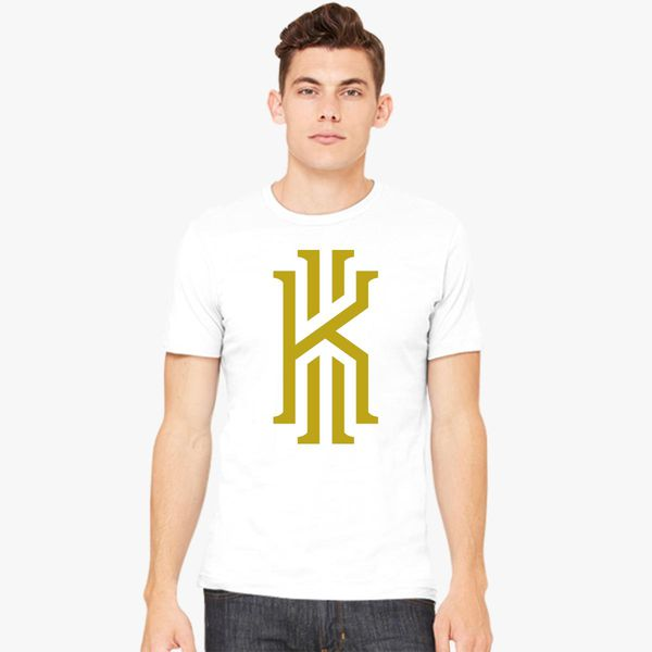huge discount eada6 6d7cf Kyrie Irving logo gold Men's T-shirt | Kidozi.com