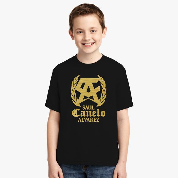 51bf9048 SAUL CANELO ALVAREZ - GOLD Youth T-shirt | Kidozi.com