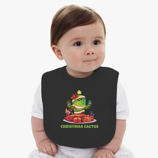 1f792408c Christmas Cactus Baby Bib | Kidozi.com