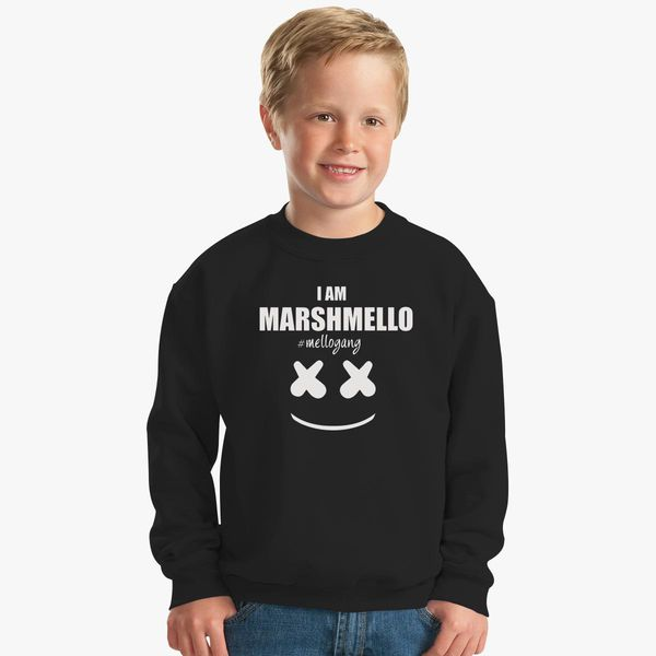 e94e5700 Marshmello The Dj I am Marshmello Mellogang Kids Sweatshirt | Kidozi.com