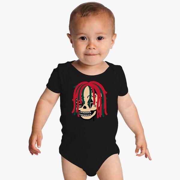 8e58c1774 Gucci Gang Skull Logo Baby Onesies | Kidozi.com