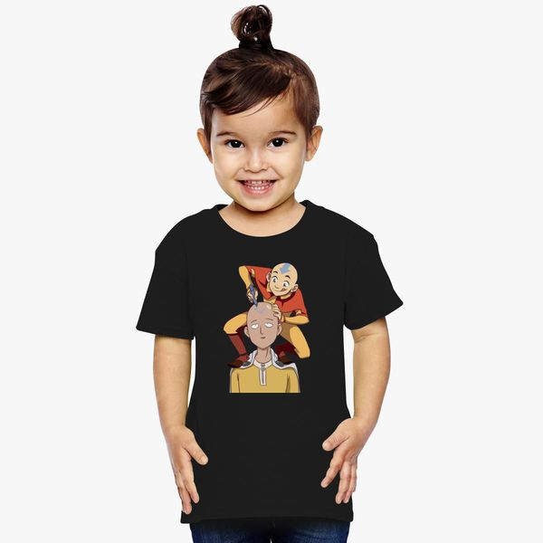 34414144d One Punch Man and Avatar Funny Toddler T-shirt | Kidozi.com