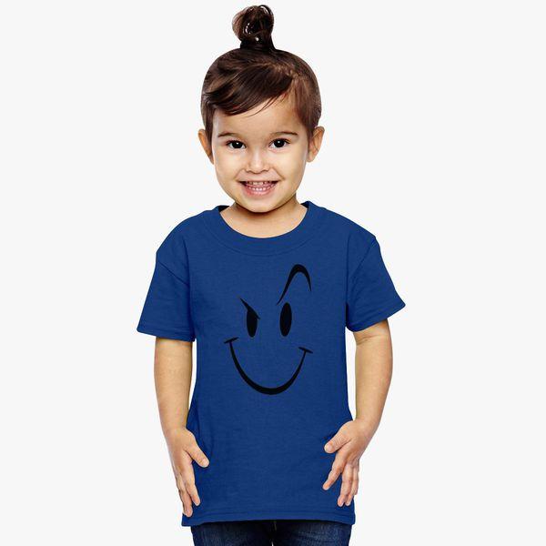 128f71ee Naughty Smiley Bad Boy Face Toddler T-shirt | Kidozi.com