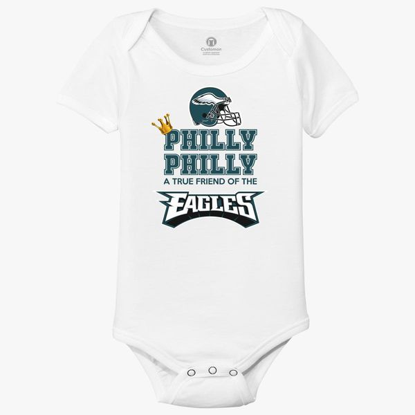 finest selection 90521 fe106 Crown Philly Dilly a True Friend Of The Eagles Baby Onesies ...