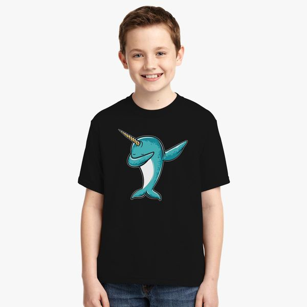 4f0285f7 Funny Narwhal Dab, Dabbing Narwhal Youth T-shirt | Kidozi.com