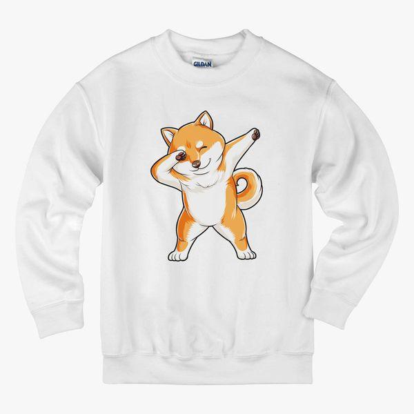 Dabbing Dog Shiba Kids Sweatshirt | Kidozi com
