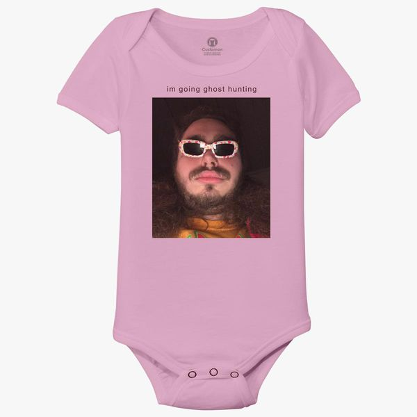 Post Malone Going Ghost Hunting Baby Onesies