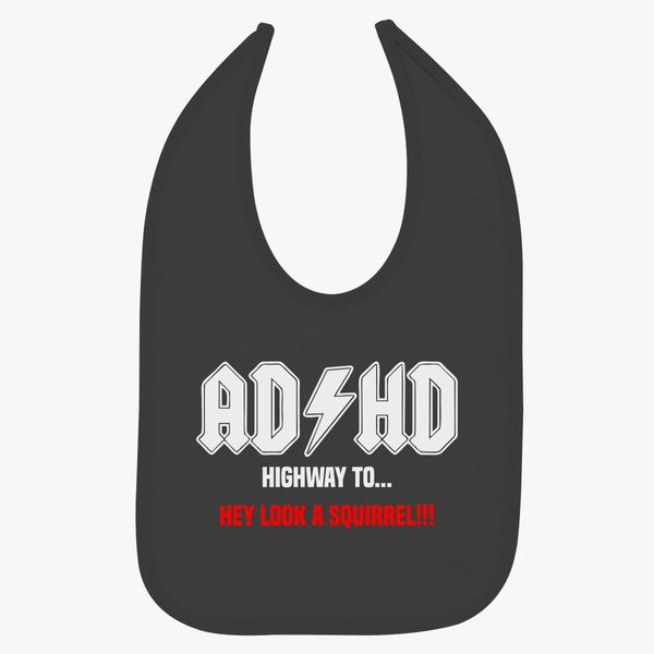 HD Logo  baby bib black