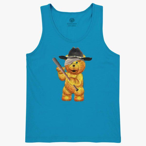 Teddy Bear Carl With Bat Kids Tank Top Kidozicom