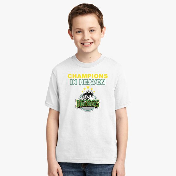 b26629ebb Humboldt Broncos Champions in Heaven Youth T-shirt +more