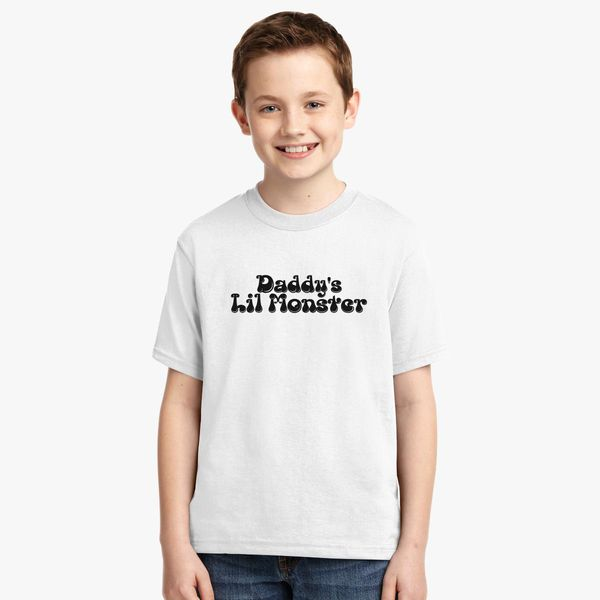 792637bf Daddy's Lil Monster Youth T-shirt | Kidozi.com