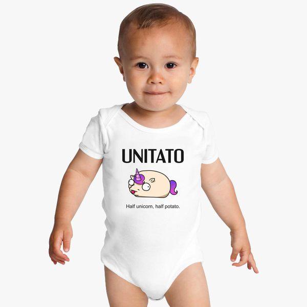 Unitato Unicorn And Potato Baby Onesies Kidozicom