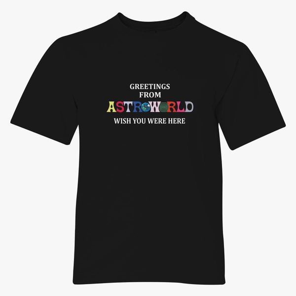 Greetings From Astroworld Wish You Were Here v1 Youth T-shirt ... 7f823453c