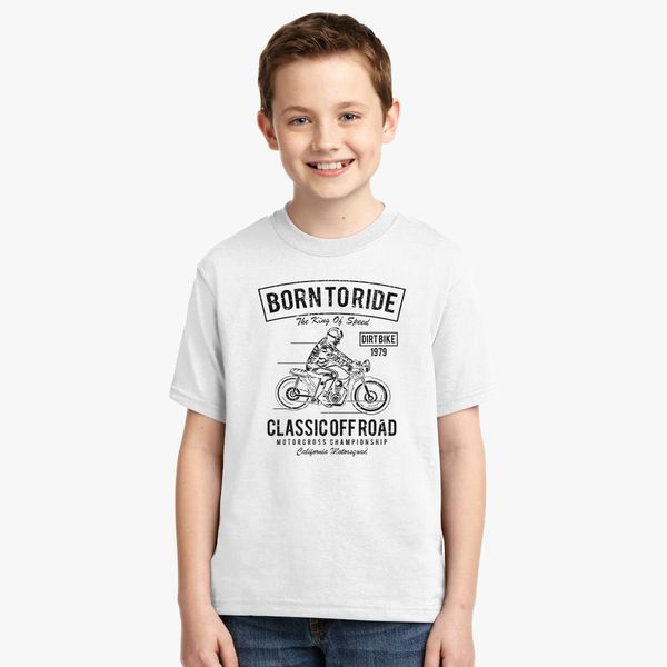5c697763 Born to Ride Ride to Live T-Shirt Youth T-shirt | Kidozi.com