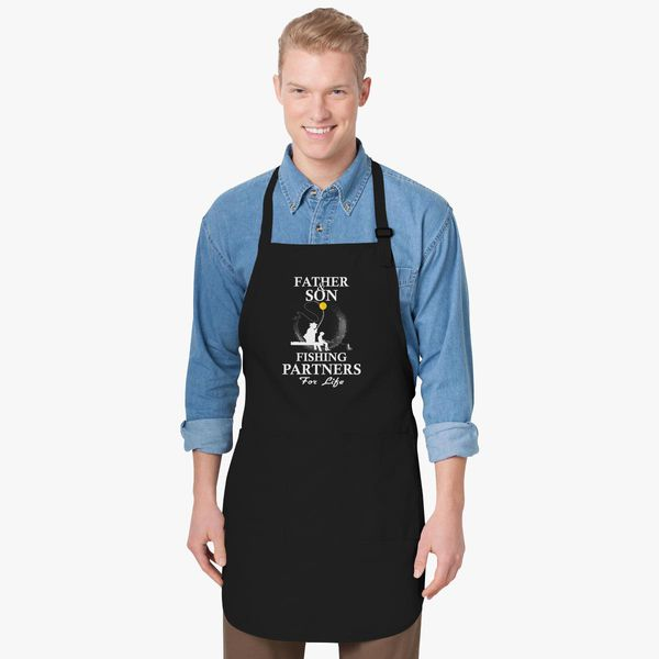 af97c483 Father And Son Fishing Partners For Life Apron | Kidozi.com