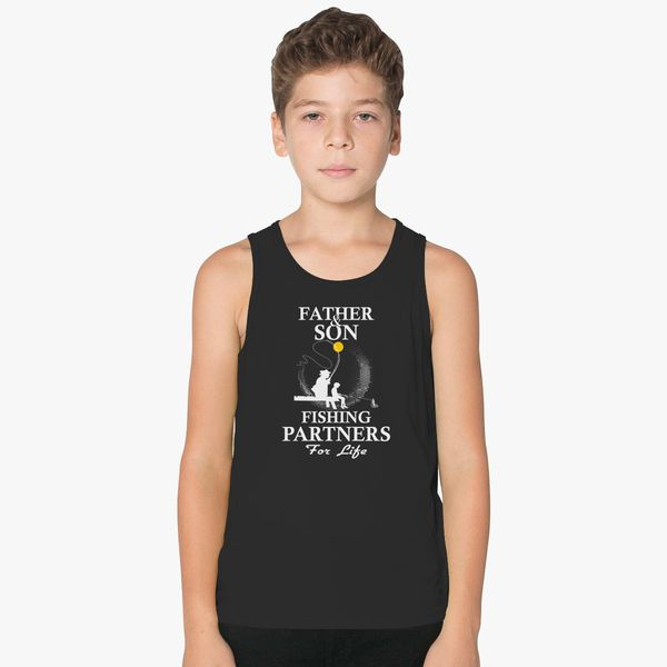 22e852d8 Father And Son Fishing Partners For Life Kids Tank Top | Kidozi.com