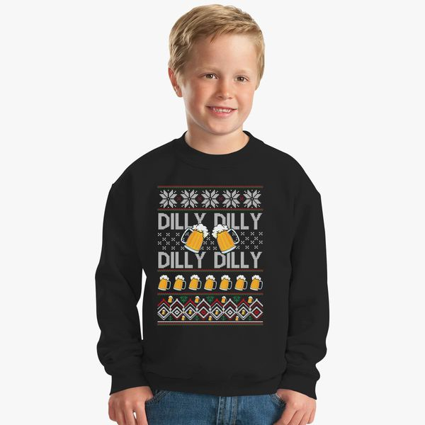 dilly dilly beer dilly dilly ugly christmass sweater