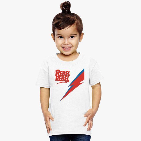b238e58e62b9ba david bowie rebel rebel Toddler T-shirt | Kidozi.com