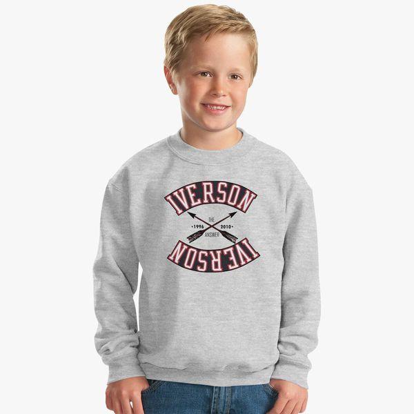 buy online b6b82 d015b ALLEN IVERSON Kids Sweatshirt | Kidozi.com