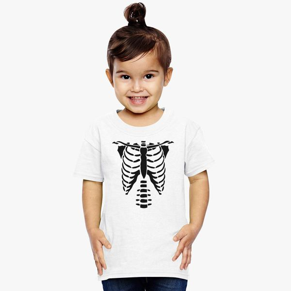 42e21c568799 Skeleton Torso Halloween Costume T-shirts Toddler T-shirt