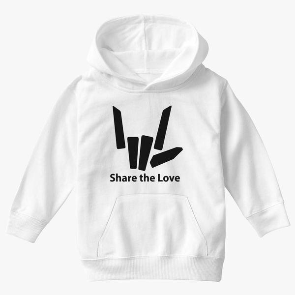 Share The Love Golden Cartoon Boy Long Sleeve Hoodie Set