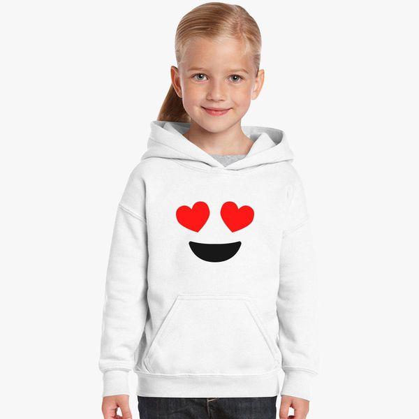 f8029e7e5160 Emoji With Heart Kids Hoodie +more