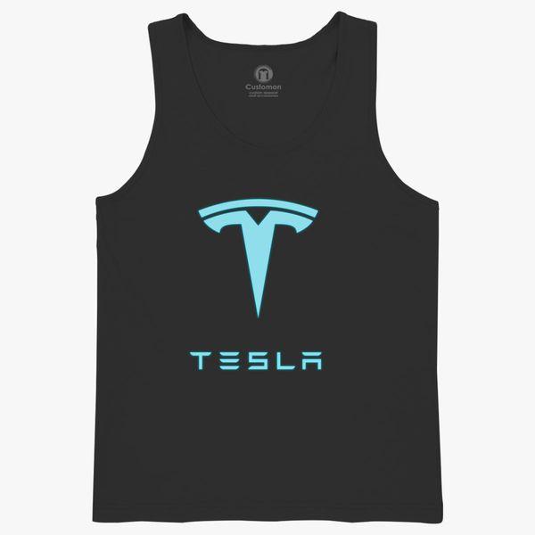 4a5555fd3e5682 Tesla symbol neon Kids Tank Top ...