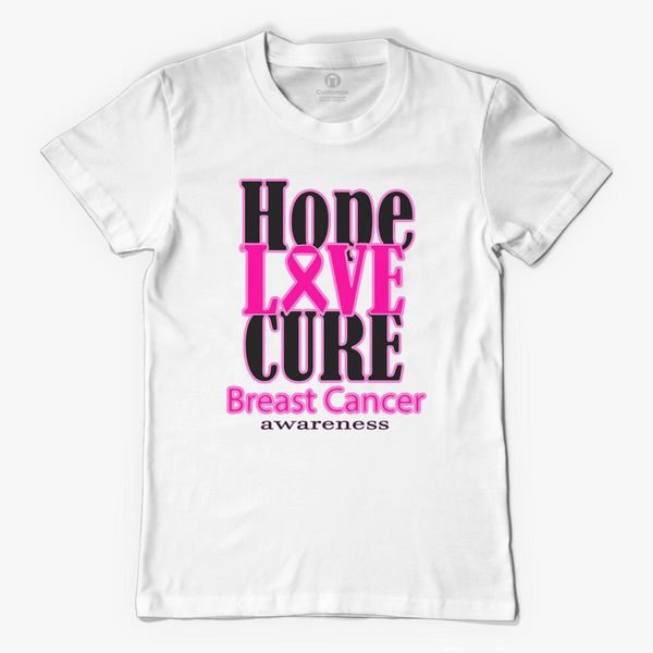 609bb6556 Hope Love Cure Breast Cancer Awareness Men s T-shirt +more