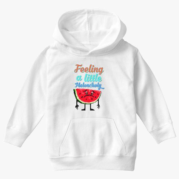 meloncholy food puns Kids Hoodie | Kidozi com