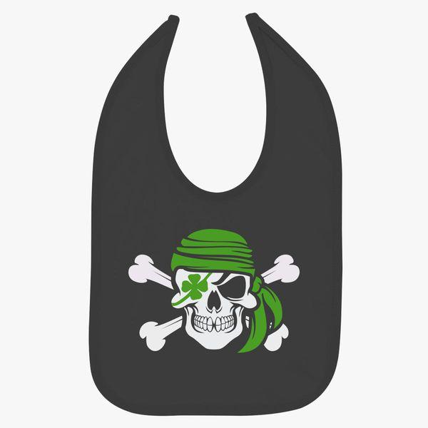 Arrish Irish Pirate St Patricks Day Baby Bib - Kidozi com