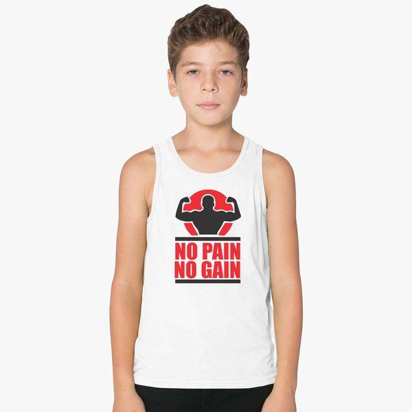 c755254c4a5b No Pain No Gain Kids Tank Top   Kidozi.com