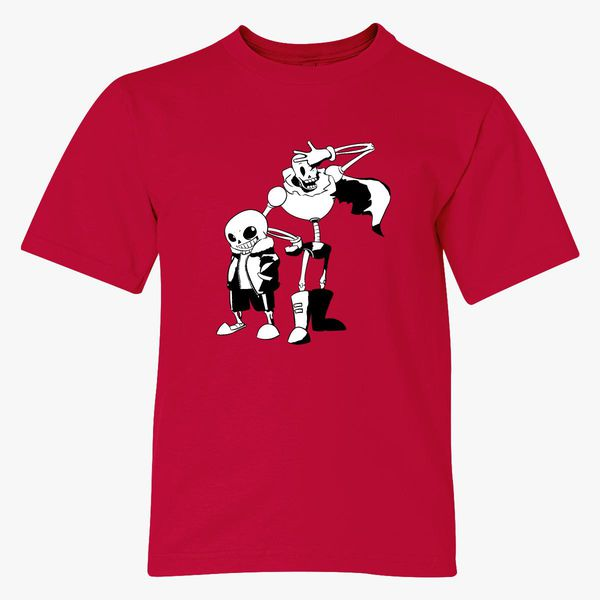 sans and papyrus undertale Youth T-shirt   Kidozi com