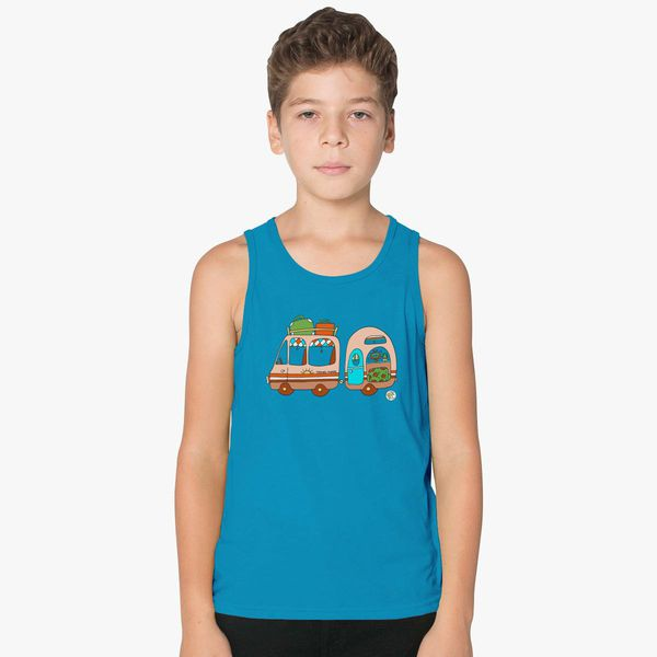 40b51769f Vintage Van and Caravan! Kids Tank Top | Kidozi.com