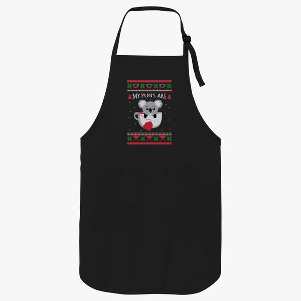 My Puns Are Ugly Sweater Christmas Apron |