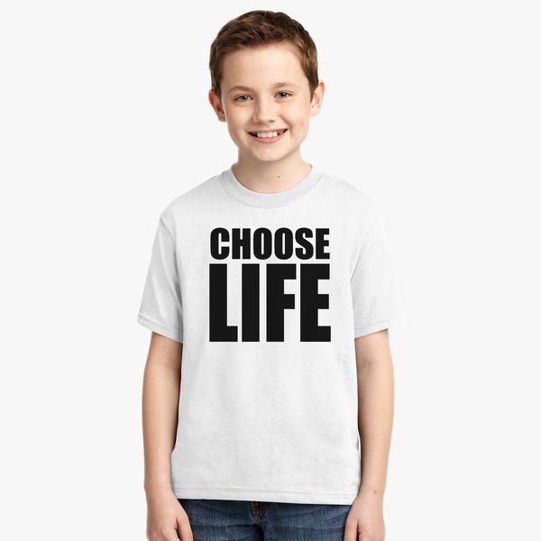 4c5c5580e CHOOSE LIFE - WHAM! Youth T-shirt | Kidozi.com