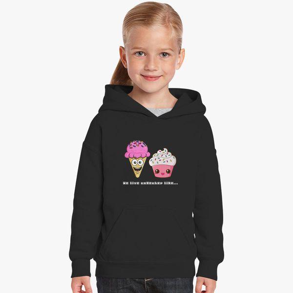 219ec4a07 We Go Together Like Ice Cream and Cake Kids Hoodie   Kidozi.com