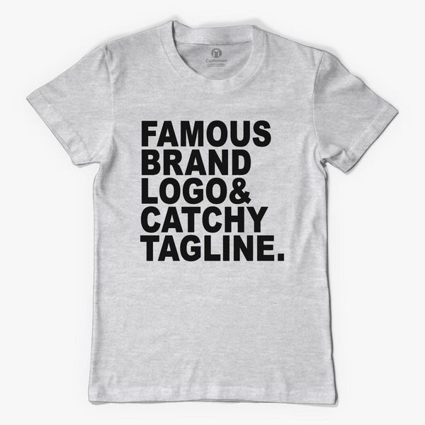 Famous Brand Logo And Catchy Tagline Men S T Shirt Kidozi Com