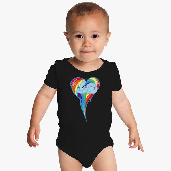 987e02a2c118 Heart Of Rainbow Dash Baby Onesies