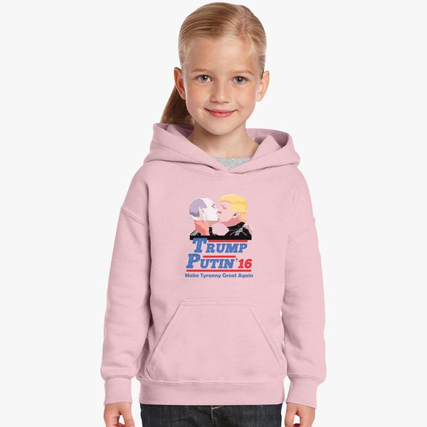 826b8cd3bd2686 Trump and Puttin Kissing Kids Hoodie +more