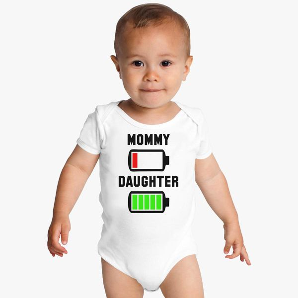 0deedfc78 Low Battery Mommy and Daughter Baby Onesies   Kidozi.com